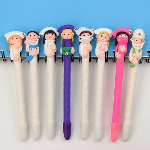 caneta biscuit médico enfermeira lembrança formatura 20un.