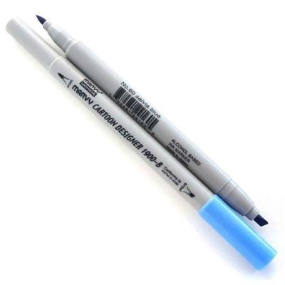 caneta cartoon designer salvia blue 60 ponta dupla marvy