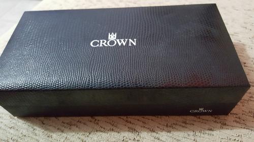 caneta crown - esferográfica azul