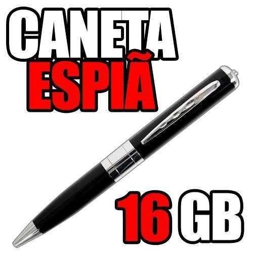 caneta de espionagem equipamentos espia hd cameras mini 16gb