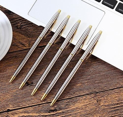 caneta de luxo esferográfica cromada