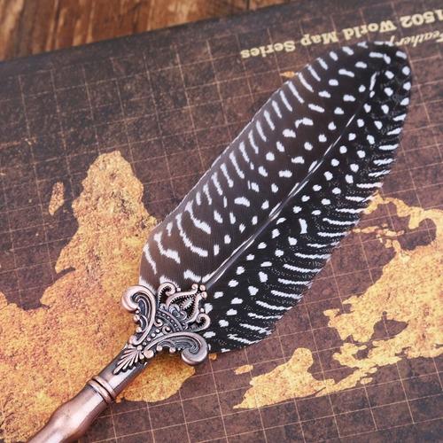 caneta de pena vintage luxo 4 ponteiros