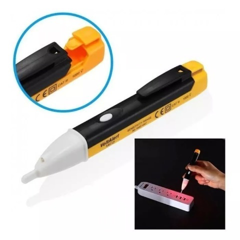 caneta detectora medidora de tensão com bip alerta e luz