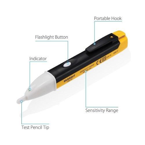 caneta detectora medidora tensão com bip alerta e luz 1000v