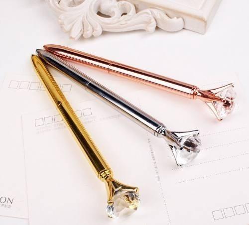 caneta diamante cristal esferográfica luxo