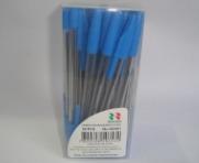 caneta esferografica azul cx 50 unidades - super promoção