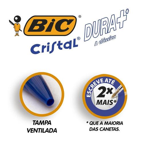 caneta esferográfica bic cristal azul 1.0mm leve 4 pague 3
