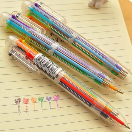 caneta esferográfica colorida 6 cores - multicolor 6 em 1