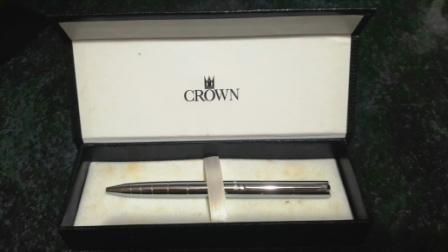 caneta esferográfica cromada ¿ crown