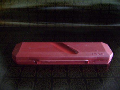 caneta esferográfica crown - preta - clipe prateado