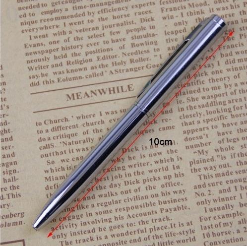 caneta esferográfica metal luxo pequena. 4 unidades
