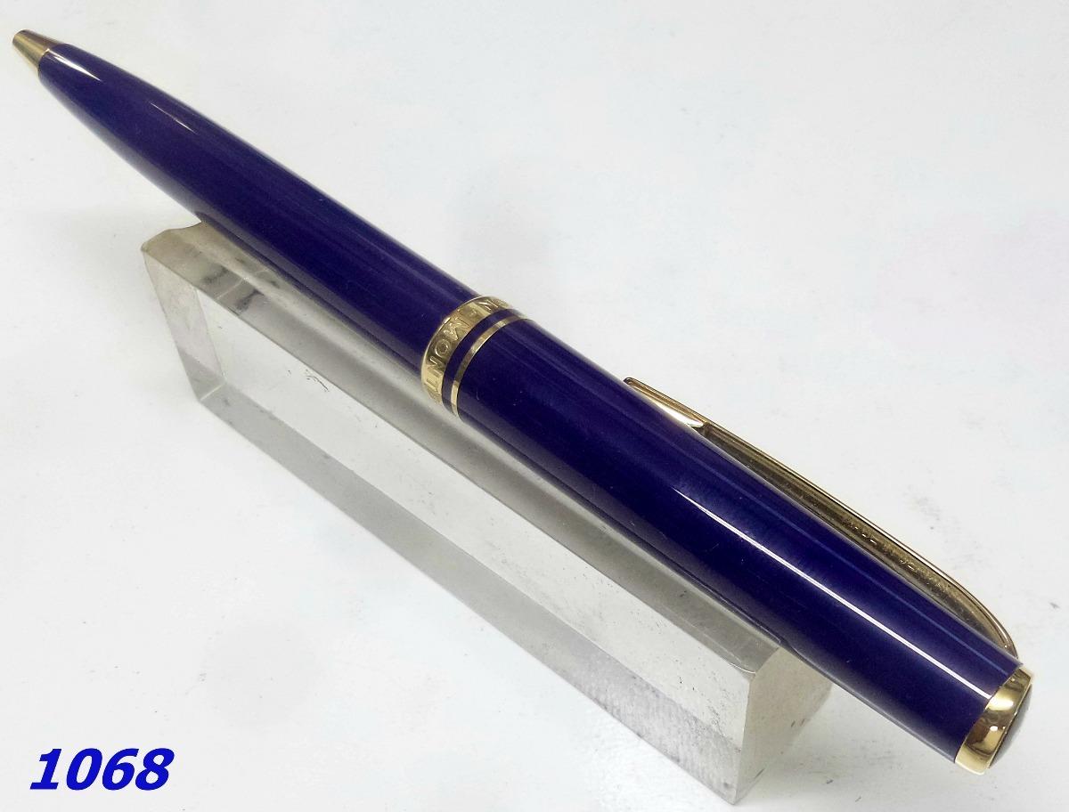 54b7c020515 caneta esferográfica montblanc generation blue. Carregando zoom.