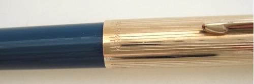 caneta esferográfica parker 51 azul teal blue nova f. grátis