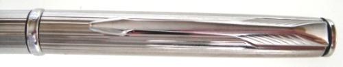 caneta esferográfica  parker insignia - cromada canelada
