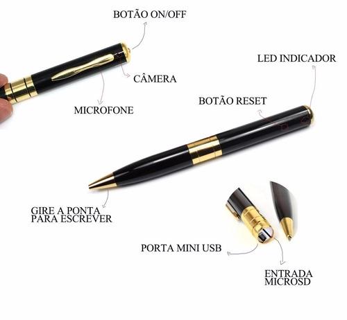 caneta espiã cam escondida grav voz pen filma foto i 009