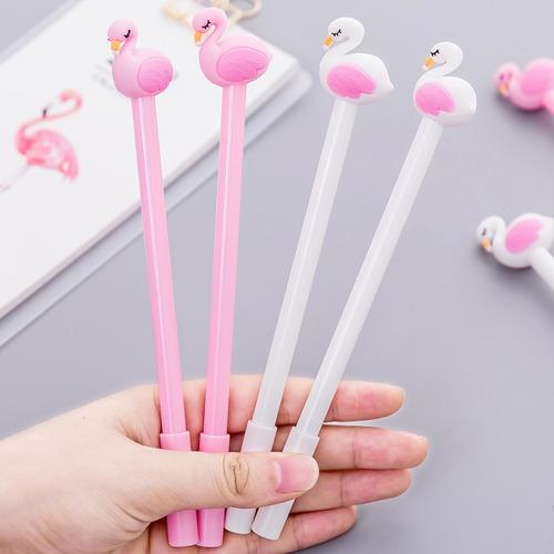 caneta flamingo pássaro festa criativa brinde festa kit