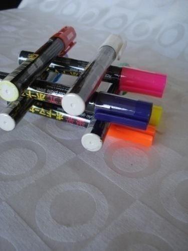 caneta fluorescente 6 peças vidros lousa luminosa led
