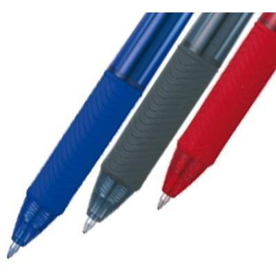caneta gel energel 0,7mm preta vermelha azul sm/bl107-abc6 p