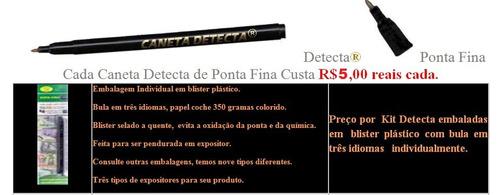 caneta identificadora de nota falsa (detecta money test)