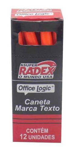caneta marca texto laranja rol1153   / 12un / radex