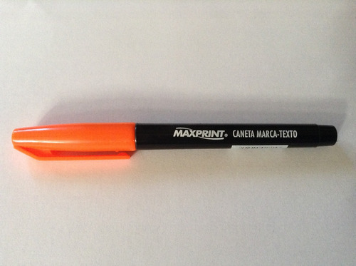 caneta marca texto maxprint laranja 70305-2  cx c/12 canetas