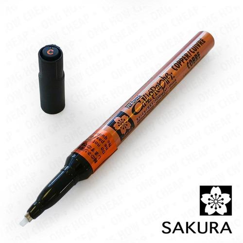 caneta marcador caligrafo pen touch sakura 1.8mm cobre