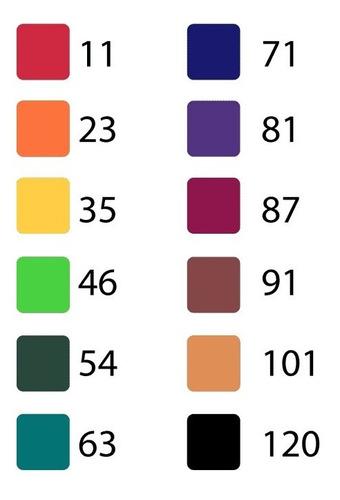 caneta marcador cis graf duo 12 cores