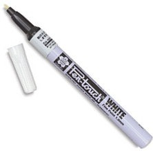 caneta marcador permanente assinaturas sakura 1mm branca