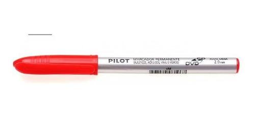 caneta marcador permanente cd vermelha 2,0 23646 pilot blist