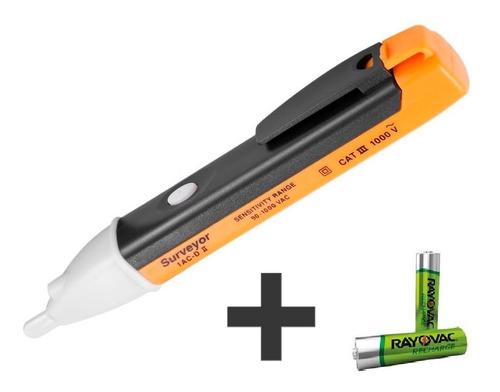 caneta medidora de tensão detectora alerta e luz com bip