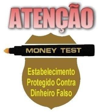 Caneta Money Test Nota Dinheiro Falsa Real Dolar Eu ...