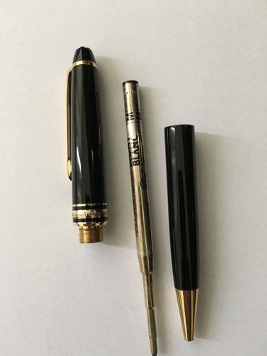 caneta mont blanc 144 preta