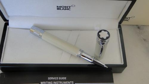 caneta mont blanc - edição ghandi
