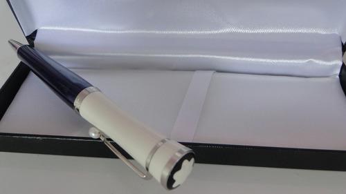 caneta mont blanc greta garbo azul\branco
