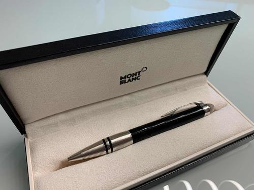 caneta montblanc 100% original esferográfica impecável