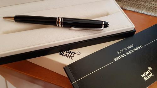 caneta montblanc meisterstuck classic ballpoint black