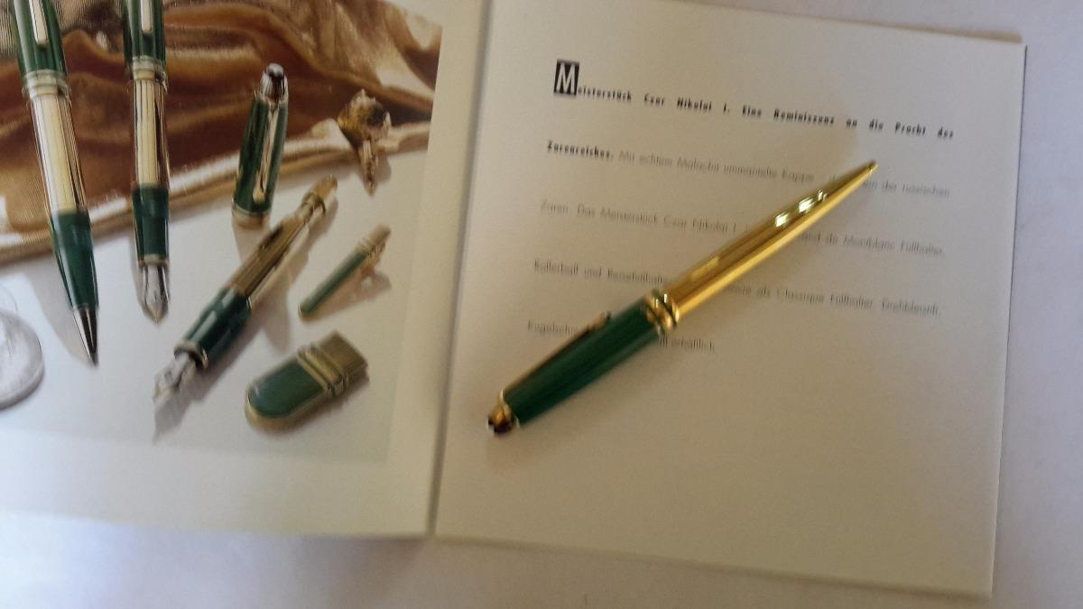 be776fe2442 caneta montblanc meisterstuck nicolai 1 dourada. Carregando zoom.
