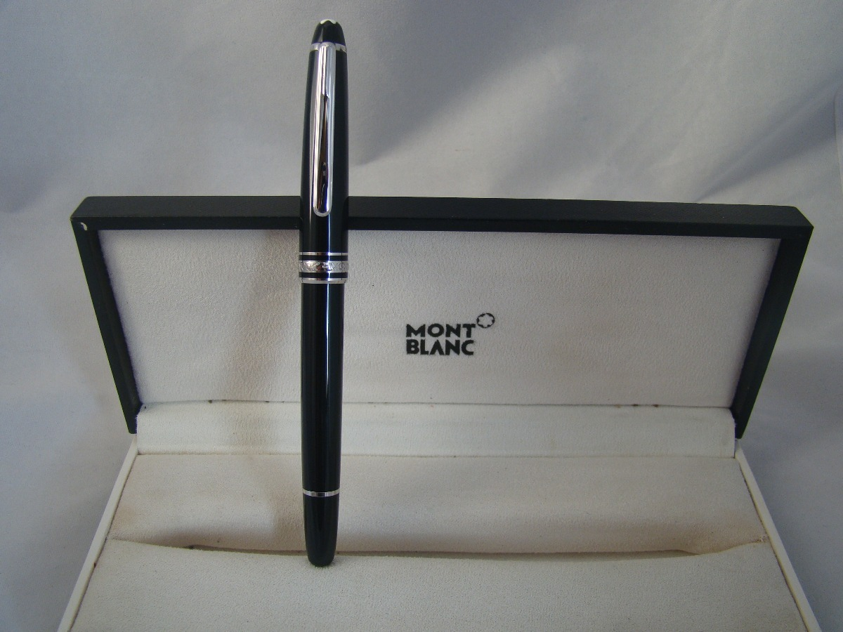 ee29c966899 caneta montblanc meisterstuck roller platina 100% original. Carregando zoom.
