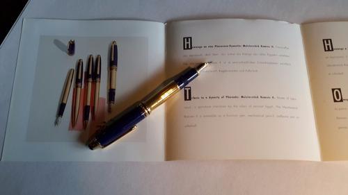 caneta montblanc ramsés 2 tinteiro fechada caixa