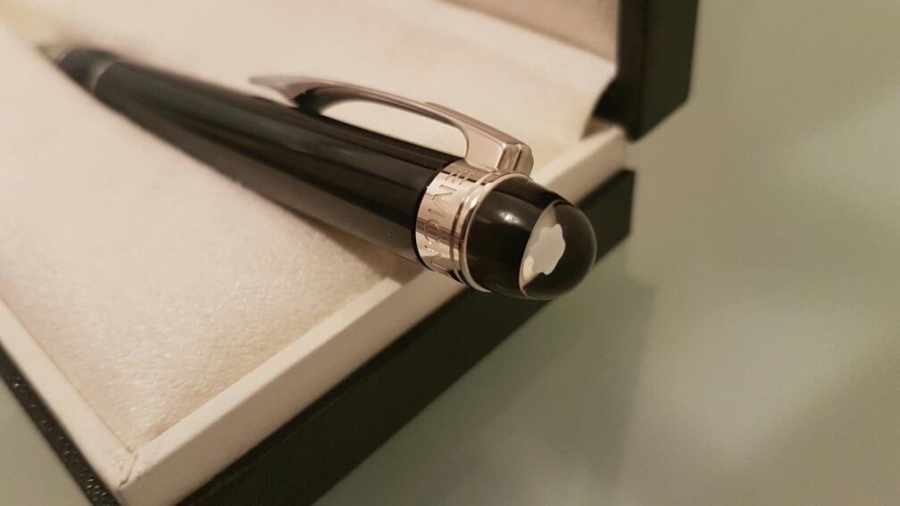 ff500bc3c63 Caneta Montblanc Starwalker Platinum Resin Preto   Baixou!!! - R ...