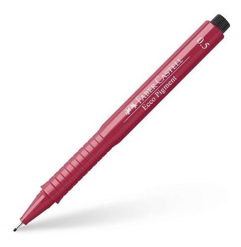 caneta nankin faber castell ecco pigment vermelha 0.5mm