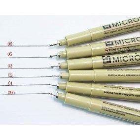 caneta nankin sakura pigma micron 0.05 azul - profissional