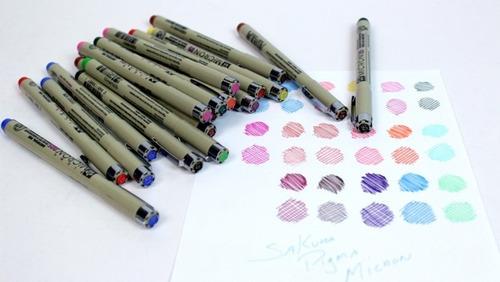 caneta nankin sakura pigma micron 0.1 sepia - profissional