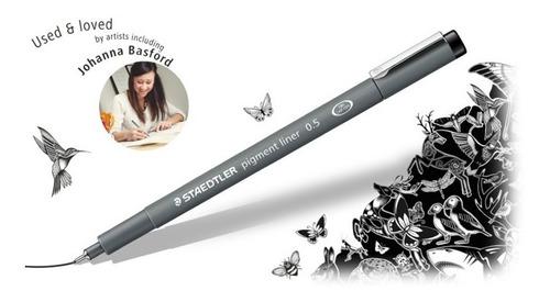 caneta nankin staedtler pigment liner estojo 6 un 308 sb6p