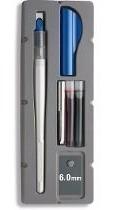 caneta paralel pen pilot 6.0mm + refil 12 cores + 6 pretos