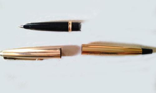 caneta parker 45 -foleado à ouro-tinta 36ml