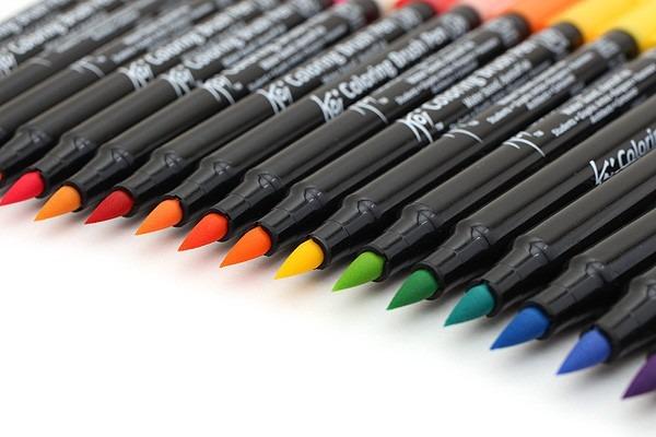 Stunning Koi Coloring Brush Pens Ideas - Coloring 2018 ...