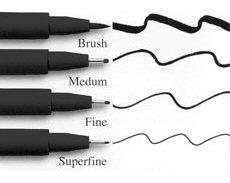 caneta pitt faber castell cj 8 black preta *blackfriday
