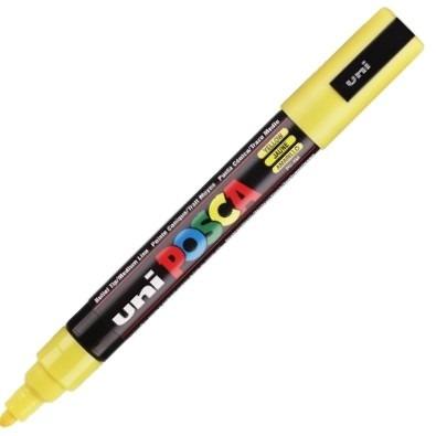 caneta posca uni ball amarelo pc-5m