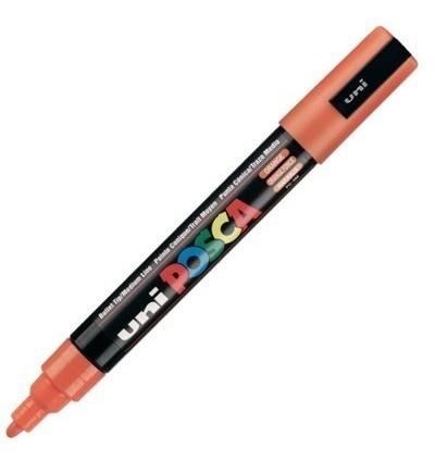 caneta posca uni ball laranja pc-5m